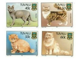 Full Sheets Tuvalu 1997 Sc 746-9 - Domestic Cats - 4 Sheets Of 40 - Mnh