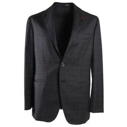 Nwt 4295 Isaia Soft-constructed Dark Gray Lightweight Wool Suit 40 R Unlined