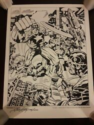Captain America Partners in Action Art Print 7961500 Signed Jack Kirby Avengers