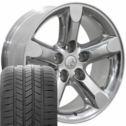 Oew Fits 20x9 Polished Ram Wheels And Goodyear Tires 20 Rims Dodge