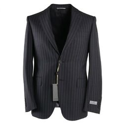 Nwt 2150 Canali Classic-fit Dark Gray Striped Lightweight Wool Suit 36 R