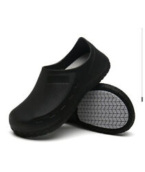 New Safety Non Slip Shoes Cushion Chef Shoes Safety Water Kitchen Bathroom Black
