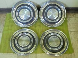 1958 Pontiac Hub Caps 14 Set Of 4 Wheel Covers 58 Hubcaps