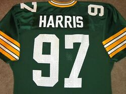 Vtg Authentic 80's Tim Harris Green Bay Packers Nfl Sand-knit Jersey 44 Rare
