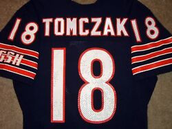 Vtg Authentic 80's Mike Tomczak Chicago Bears Nfl Sand-knit Jersey 40 Rare