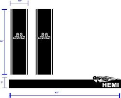 Tribal Ram 4x4 Box Stripes And Tailgate Stripe For Dodge 1500, 2500 And 3500.