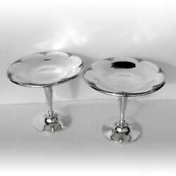 Art Deco Compotes Pair Cascade Sterling Silver Towle 1933