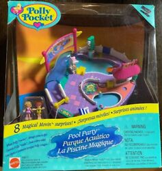 Vintage Polly Pocket Pool Party Magical Swimabout Playset New Sealed Rare 1997