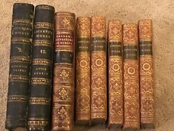 Lot Of 8 Antique British Books From 1800's Charles Dickens, Samuel Johnson