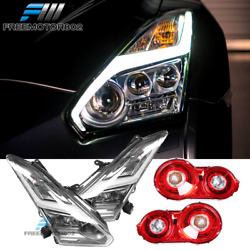 Fits 09-18 Nissan GTR R35 Coupe OE Style Headlights + Tail Lights 4PC