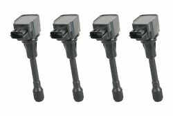 Ignition Coil Set Of 4 - Fits 2007-2017 Nissan And Infiniti Replaces 22448ja00c