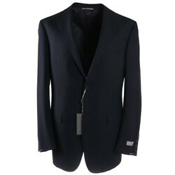 Nwt 1695 Canali Navy Blue Woven And039traveland039 Wool Sport Coat 40 Xl Extra-long