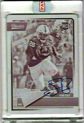 Saquon Barkley 2018 Printing Plate Penn State Autograph 1 Of 1 Sealed By Panini