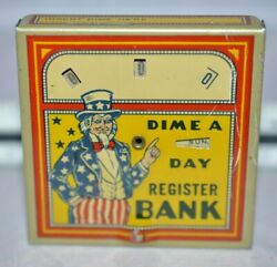Circa 1930s Bank Uncle Sam Dime A Day Dime Register Bank 1
