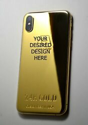 24K Gold plating done over iPhone xs max 256GB super luxury your desired design