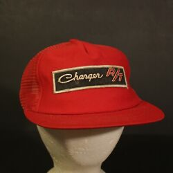 Charger RT Patch Trucker Hat Cap Mesh Red Snapback Hipster Retro Dodge USA Made