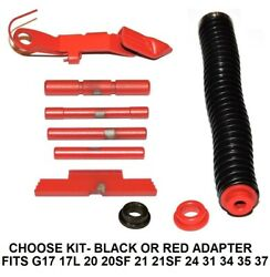 Red Extended Parts Kit For Glock Gen 4 Plus Ss Guide Rod And Adapter Fits 17-37