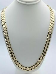 10k Yellow Gold Solid Cuban Curb Link Chain Necklace 20 9 Mm 56-60 Grams