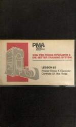 Coil Fed Press Operator And Die Setter Vhs Training System Rare Vintage Ship N 24h