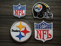 4 Pcs Patch Pittsburgh Steelers Football Team Embroidered Iron Or Sew On Shirt