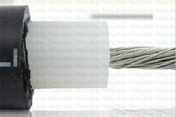 30M OD 13mm 150KV 2.5mm² (~13AWG) DC High Voltage/Temperature 200° Cable V5669CH
