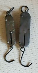 Antique Store Spring Balance Hanging Scaleslot Of 2circa 1900-40's Free Ship