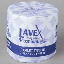 Bulk Toilet Paper Rolls Case Of 96 Premium Individually Wrapped 2 Ply 500 Sheet