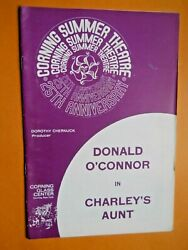 Corning Summer Theatre Program - Charley's Aunt - Donald O' Connor