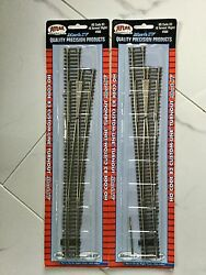 2 - Atlas 1/87 Ho Code 83 Nickel Silver Manual 8 Right Turnout Switches 566 F/s