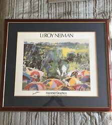 Arnie In The Rain Lithograph Signed By Leroy Neiman And Arnold Palmer