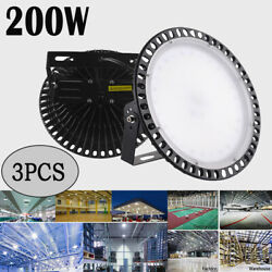 3X 200W LED UFO High Bay Light Industrial Warehouse Lighting Shed Lamp Fixtures