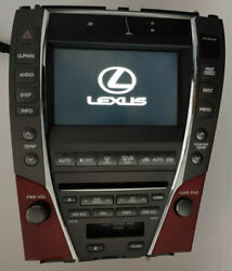 07 08 09 Lexus ES350 ES GPS NAVIGATION CD PLAYER RADIO A/C CLIMATE CONTROL TAPE