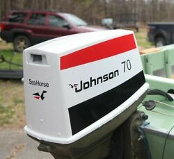 Johnson Outboard 1970and039s Through 1985 70hp Boat Motor Decal Kit + Free Shipping