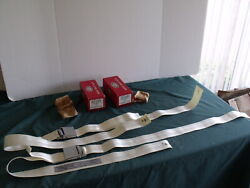 Nos 1963 1964 Ford Galaxie Deluxe White Seat Belts Rotunda Fomoco Oem