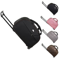 Duffle Bag 24quot; Rolling Wheeled Trolley Bag Tote Carry On Luggage Travel Suitcase $18.90