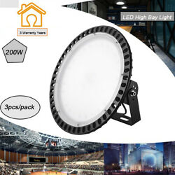 3X 200W UFO LED High Bay Lights Super Bright Factory Warehouse Shop GYM Lighting