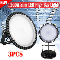 3X 200W Watt LED High Bay Light Factory Warehouse Work Lamp Commercial Lighting
