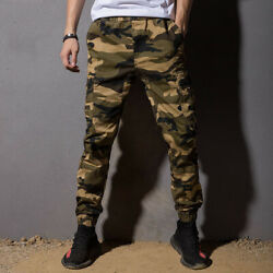 New Men's Casual Military Harem Loose Sport Camouflage Trouser Feet Pants Cotton