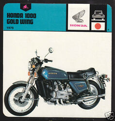 1975 Honda 1000 Gold Wing Motorcycle Picture 1978 Card