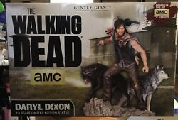 Gentle Giant Daryl Dixon Wolves Statue The Walking Dead 101 Of 200 Coa Signed