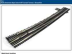 Peco 1/87 Ho Streamline Code 83 7 Right Hand Curved Turnout Insulfrog Sl 8376
