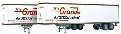 Walthers Ho 1/87 Scale Rio Grande 45' Stoughton Trailers 2-pack 949-2204 F/s