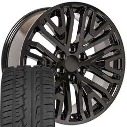 Oew Fits 22x9 Wheels And Tires Chevy Gm High Country Black Ironman