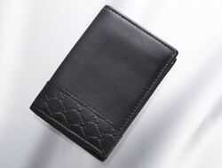 H6797M Authentic GUCCI Micro-GG Genuine Leather Business & Credit Card Case