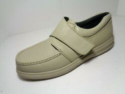 Hush Puppies Menand039s Hook And Loop Leather Comfort Shoes Gray Size 12m