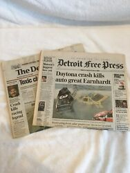Dale Earnhardt 3 Detroit Free Press And The Detroit News - As Delivered