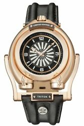 Gv2 By Gevril 3402 Triton Md3g Swiss Automatic Limited Edition Black Leather