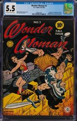 Wonder Woman #2 CGC 5.5 OWW Origin & 1st Appearance of Ares (Mars)