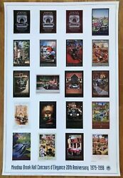 Poster Meadow Brook Hall Concours D' Elegance 1998 Rare 20th Anniversary