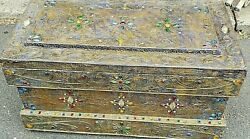 Unusual Antique Jeweled Trunk / Tool Chest Beautiful Circa 1900-30's We Ship